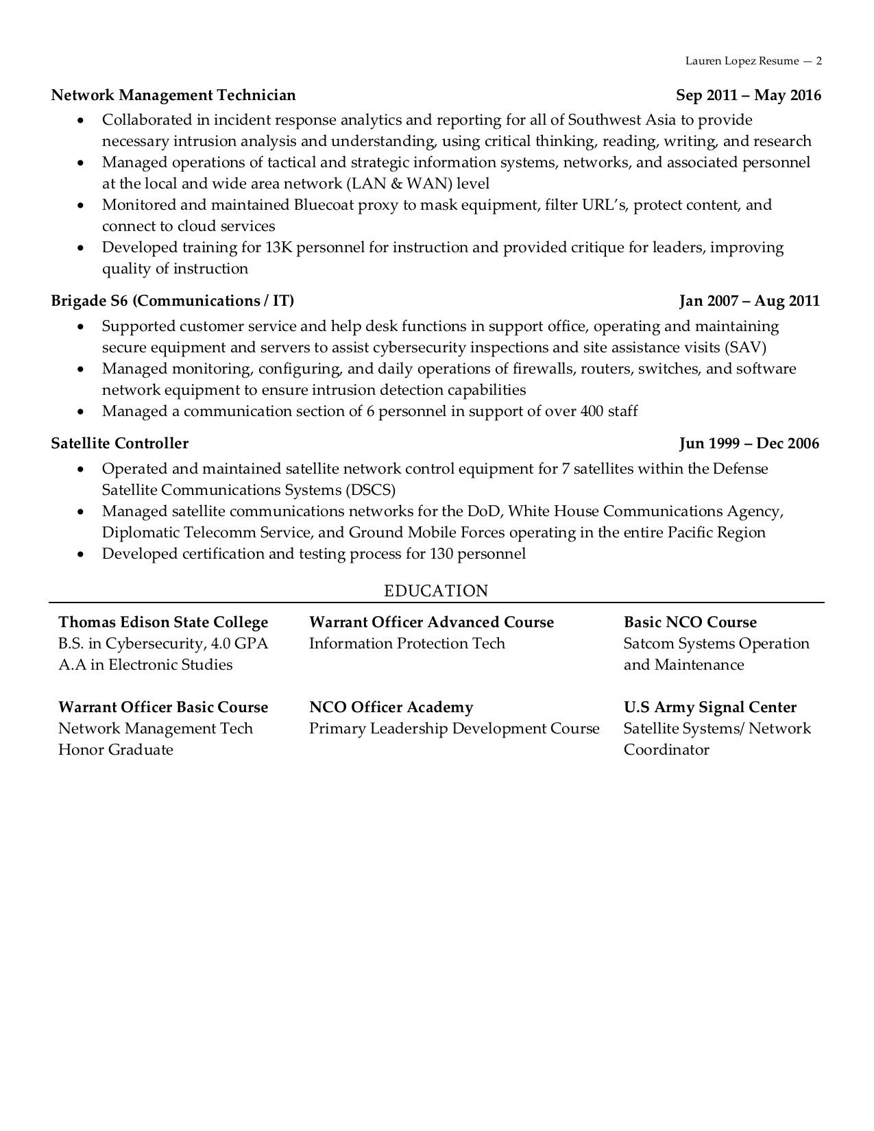 information security analyst resume  whitney shakespear